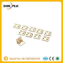 10 PCS/Lot 10*8mm 소형 내각 서랍 개머리판쇠 경첩 구리 금 4 작은 작은 경첩 구멍 손은 기계설비를 도구로 만든다