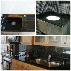 Desconto/barata Galaxy 61/43 personalizado em granito preto/36 polegadas cozinha/banheiro vaidade tops