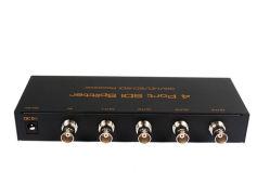 Nouveau produit 1X4 1080p de 1 à 4 Séparateur Audio Vidéo BNC SDI/HD/SD 3G SDI Splitter 1 entrée 4 sorties avec adaptateur