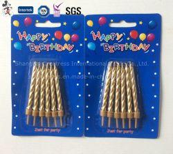 Cono de oro vela de cumpleaños