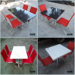 Kingkonree Surface solide 2 places Fast Food Restaurant chaises et table