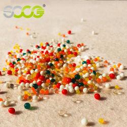 Comercio al por mayor colorido no tóxico de aspiración de bola de cristal transparente Orbeez absorbente de barro del suelo cordones de agua para cultivos hidropónicos decorar