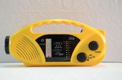 Am/FM Solar Crank RadioのMuilチタニウムBand