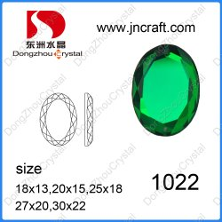 Декоративные моды зеленый гладкой стороне Бусины овальные Rhinestone стекла зеркала заднего вида для одежды