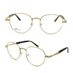 Модные очки из нержавеющей стали круглой формы оптические рамы (2125)