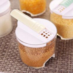 5pcs/Set Shaker Box Herb & outils d'épice Cuisine créative de bidons d'assaisonnement Transparent Rack Bouteilles de condiments épices poivre Jar