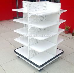 Memoria All-Sided Metal Display Shelving con Wheels
