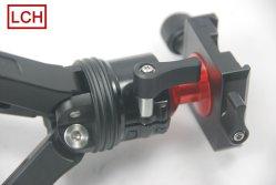 Mini treppiede portatile in alluminio con ruote pressofuso OEM per fotocamera fotografica Attrezzatura