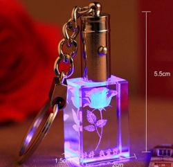 習慣3DレーザーGlass Crystal Keyring