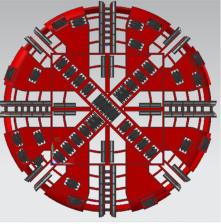 Tunnel Boring Machine cabeça de corte e o cortador