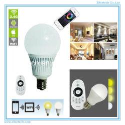 E14 Conector de Gobal Bombilla de luz LED regulable Lámpara de control remoto de WiFi
