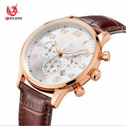 Más barato al por mayor reloj cronógrafo acero inoxidable de negocios Personalizado relojes de cuarzo para la promoción de la mens Watch automática #V683