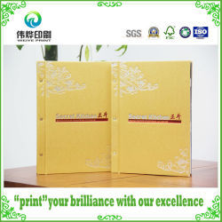 Stampa A Colori Personalizzata Hot Stamping Gold Back Binding Hard Cover Book