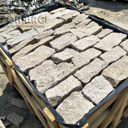 Pietra impilata allentata del sesamo di SMC-Fs038 Cina del granito naturale di colore giallo