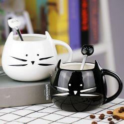 Mok van de Koffie van het Ontwerp van de Kat van de Mok van het Dolomiet van het Porselein van de gift de Fijne Creatieve Ceramische