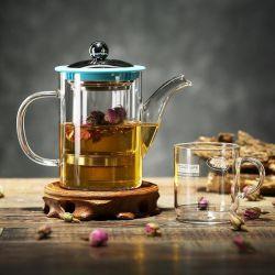 كوب شاي كوب كوب كوب كوب كوب كوب كوب قهوة زجاجية هدية شاي مجموعة teapot زجاجية