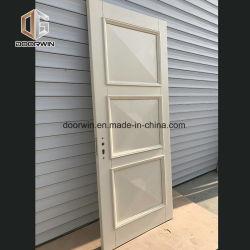 Interior de madera sólida blanca planteó la puerta del panel