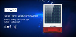 Alarme de strobe exterior à prova de água Sirene Solar GSM