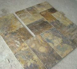 屋内または屋外用のイエロー / 素朴な床の舗装スレートタイル