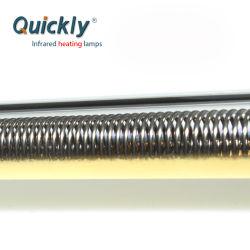 Lampade infrarosse 1000W del riscaldatore del tubo del quarzo del rivestimento dell'oro per il forno di stampa