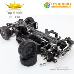 1/28 1/24 Metal sem escovas de 4WD Mini Drift RC Car Kit Q7 Mini-Q RC Car