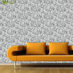 Hauptdekoration wasserdichte Wand-Papier-Tapete des Belüftung-Vinyl3d auf Lager