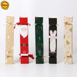 Sinicline Süßigkeit-Form-Weihnachtsdruckpapier, das für Socken verpackt