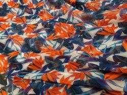 Commerce de gros tropical d'impression numérique Hawaii tissu de polyester de conception Georgette mousseline de soie