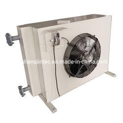 Fin du tube échangeur de chaleur avec ventilateur de chauffage du conduit d'air électrique pour effet de serre