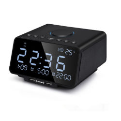 K9 Wekkerradio van de Slaapkamer van het Alarm van de LEIDENE de Blauwe Spreker van de Tand Digitale Met Lader USB