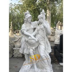 Custom lado entalhado Marble mítica figura estatuetas/Esculturas para venda