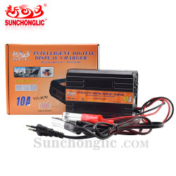 Sunchonglic цифровой дисплей зарядное устройство для аккумуляторной батареи 6 В 12V автомобильного аккумулятора зарядное устройство