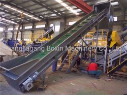 La agricultura de los residuos de fabricación de película plástica de reciclado de botella Lavadora/flotante de alta velocidad y la arandela de arandela de fricción/sistema de secado/Granulator reciclado