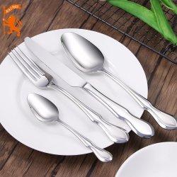 [إكسوريووس] [ستينلسّ ستيل] سكّين شوكة/ملعقة/سكّين عرس عالة فضّيّ مائدة أداة مائدة [دينّرور]