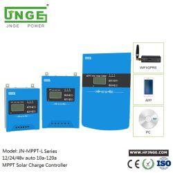 Regolatore solare automatico della carica di alta efficienza 12V/24V/48V 10A-120A MPPT di JNGE con il video GPRS/RS485 di WiFi/per la batteria di litio