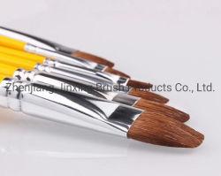 Commerce de gros poils en nylon Aquarelle artiste Brosse brosse brosses de dessin d'huile acrylique
