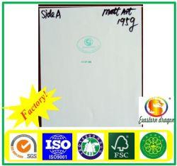 Литые матовая бумага с покрытием мелованная бумага-135g