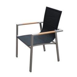 Mobilier en aluminium extérieur Tissu chaise empilable (K54)