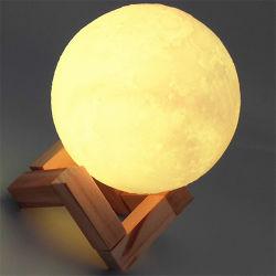 Feux de nuit Type de Point Source de lumière LED Lampe lune d'impression 3D