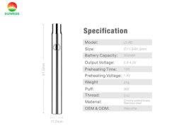 Várias cores de caneta Vape personalizada de 510 cigarros electrónicos torcer a Bateria Recarregável preço de fábrica Evod EGO CBD E-CIG BATERIA