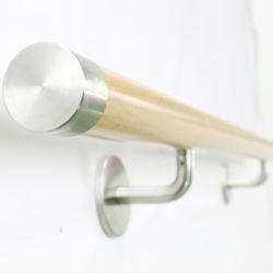ISO9001 SS304 Corrimão Conexões com tubo de madeira para parede