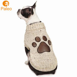 Diseño de impresión personalizados fabricante de dibujos animados de Invierno de algodón tejido Jersey perro ropa para mascota