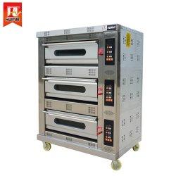 &Cooking 기계를 굽는 3개의 갑판 6 쟁반 상업적인 /Gas /Pizza /Bread /Cake