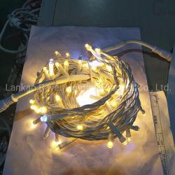 Cadena de LED LED de uso exterior de vacaciones de la cadena de la iluminación de tipo String con el Auto de bombillas de LED intermitente