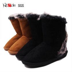 Коровы велюр TPR исключительно для использования вне помещений зимой женщин Bootie обувь