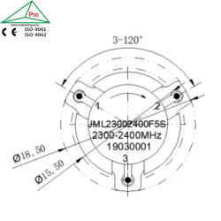 100 ватт мощности по часовой стрелке 2300-2400Мгц полоса пропускания частота ВЧ-портами для беспроводной инфракрасный 5G/4G/LTE