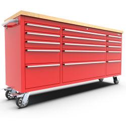 Kinbox 15 서랍 공구 내각 차량 정비를 위한 72 인치 공구 손수레
