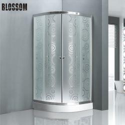 Экономическая модель двери душ в ванной комнате с круглыми круг стекла план