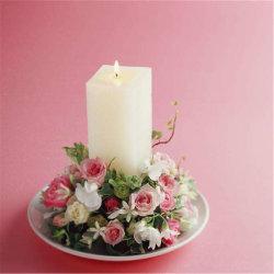ミンクの白い四角の販売の純粋で簡単な北欧の柱の蝋燭