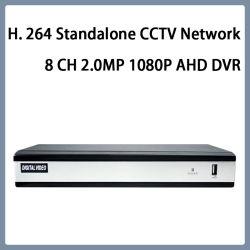 H. 264 canaleta autônoma 2.0MP 1080P Ahd DVR da rede 8 do CCTV